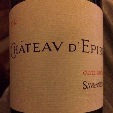 Château d'Epiré Cuvée Spéciale Savennières Chenin Blanc 2013