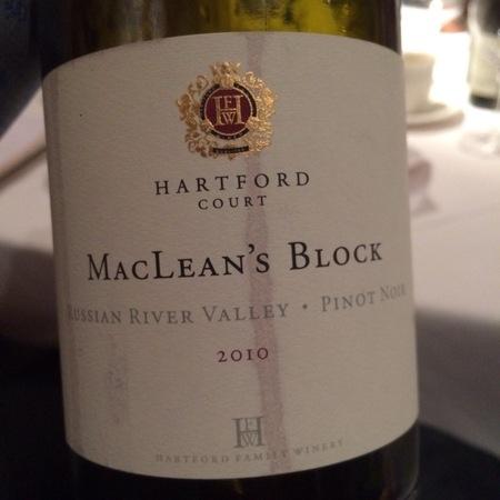 Hartford Court MacLean's Block Pinot Noir 2010