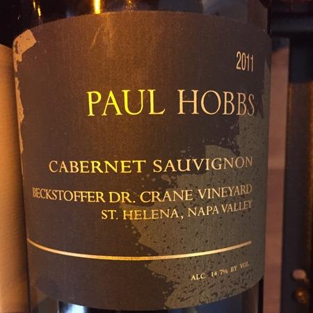 Paul Hobbs Beckstoffer Dr. Crane Vineyard Cabernet Sauvignon 2011