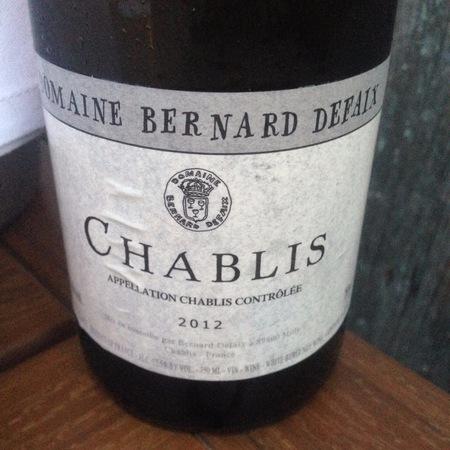 Domaine Bernard Defaix Chablis Chardonnay 2015