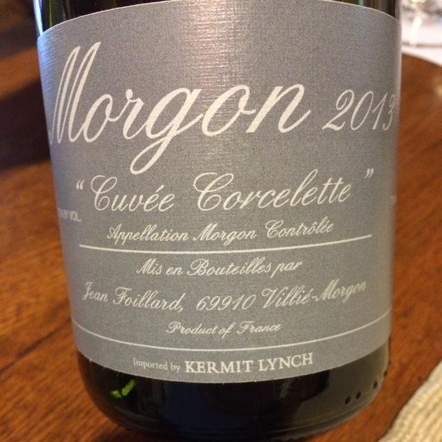 """Cuvée Corcelette"" Morgon Gamay 2014"