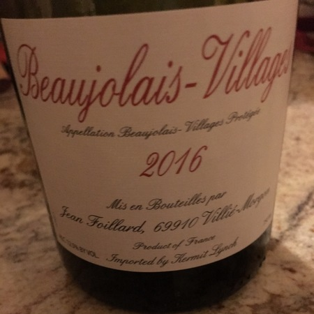 Jean Foillard Beaujolais Villages Gamay 2016
