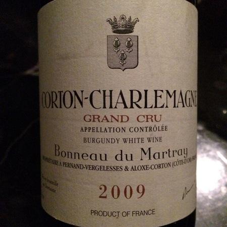 Bonneau du Martray Corton-Charlemagne Grand Cru Chardonnay 2009 (375ml)