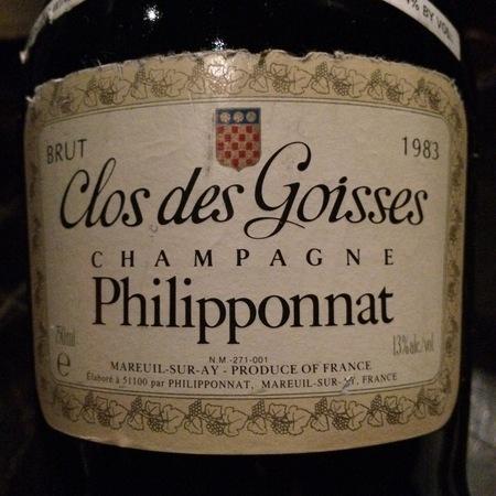 Philipponnat Clos des Goisses Brut Champagne Blend 2008