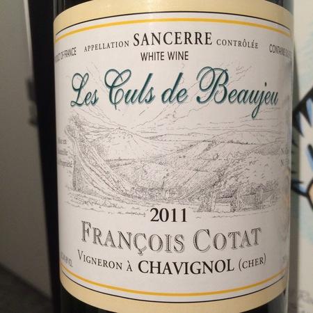 Domaine François Cotat  Les Culs de Beaujeu Sancerre Sauvignon Blanc 2015