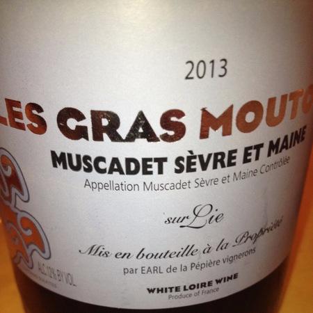 Domaine de la Pépière Les Gras Moutons Muscadet de Sèvre-et-Maine Melon de Bourgogne 2016