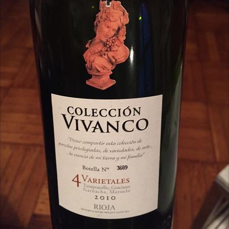 Dinastía Vivanco Colección Vivanco 4 varietales Rioja Tempranillo Blend 2012