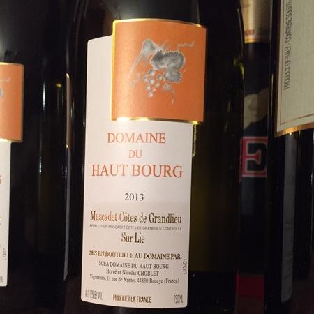 Domaine du Haut Bourg Muscadet-Côtes de Grandlieu Melon de Bourgogne 2015