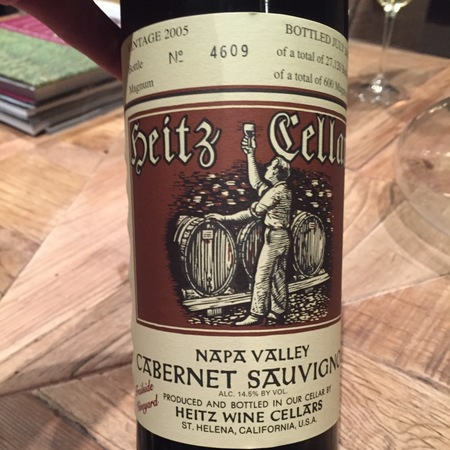 Heitz Cellar Trailside Vineyard Cabernet Sauvignon 2005