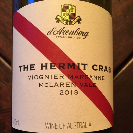 d'Arenberg The Hermit Crab McLaren Vale Viognier Marsanne 2016