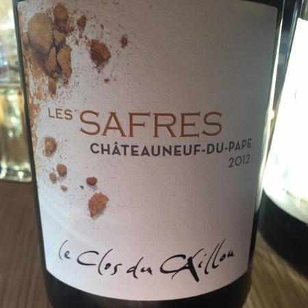 Le Clos du Caillou / Domaine du Caillou Les Safres Châteauneuf-du-Pape Red Rhone Blend 2012