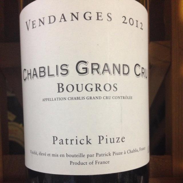 Bougros Chablis Grand Cru Chardonnay 2014