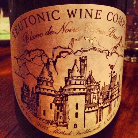 Teutonic Wine Company Extra Brut Blanc de Noirs Laurel Vineyard Pinot Noir 2011