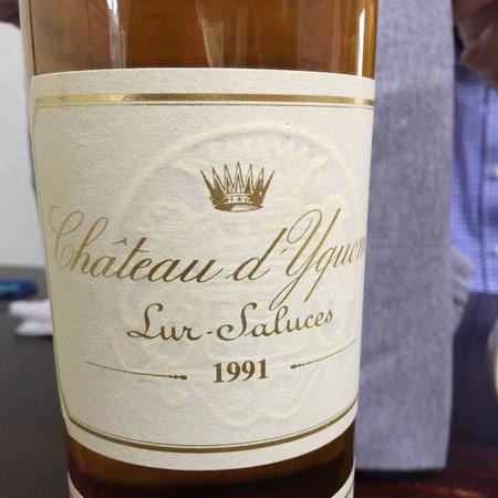 Château d'Yquem Sauternes Sémillon-Sauvignon Blanc Blend 1991