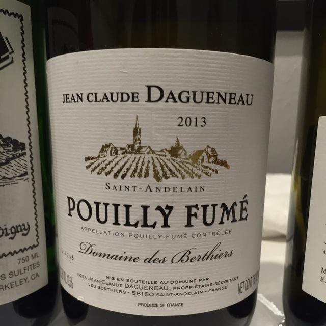Domaine des Berthiers Pouilly-Fumé Sauvignon Blanc 2013