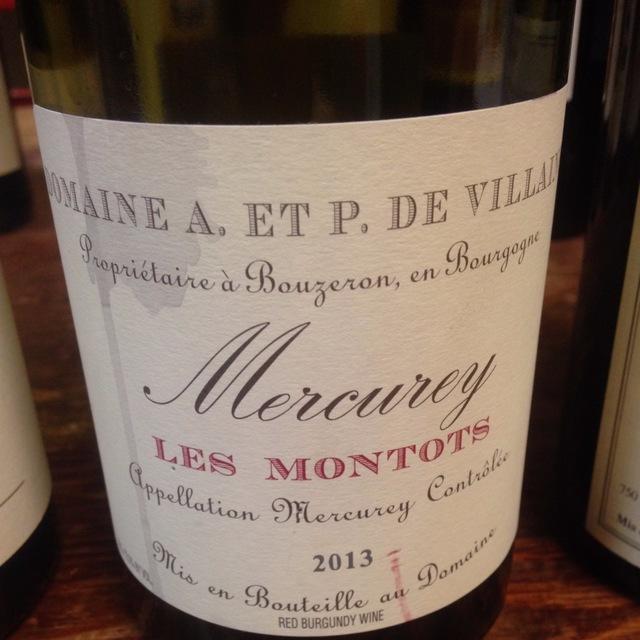 Les Montots Mercurey Pinot Noir 2013