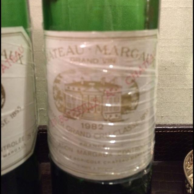 Margaux Du Chateau Margaux Red Bordeaux Blend 1982