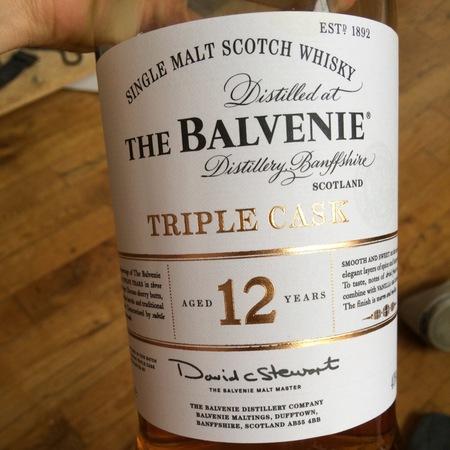 The Balvenie Distillery Triple Cask 12 Year Old Single Malt Scotch Whisky NV