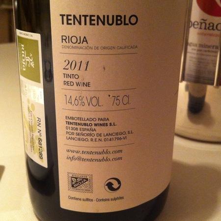Tentenublo Cosecha Rioja Tempranillo 2015