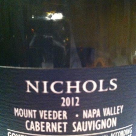 Nichols Winery & Cellars Mt. Veeder Cabernet Sauvignon 2012