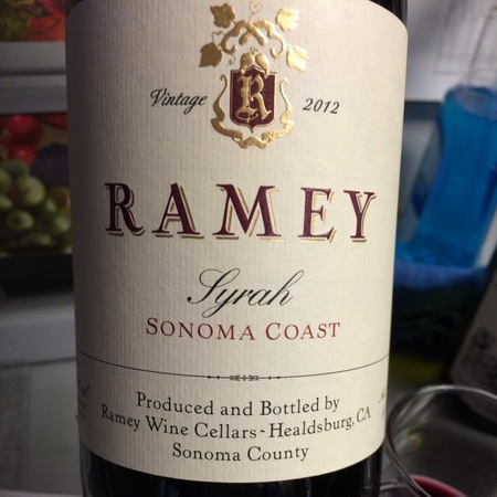 Ramey Wine Cellars Sonoma Coast Syrah 2014