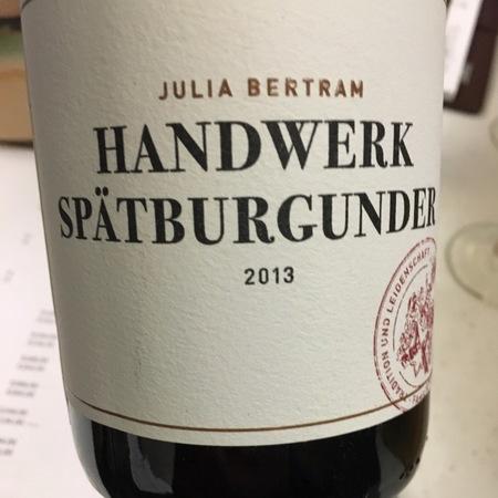 Julia Bertran Handwerk Spätburgunder 2015