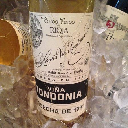 R. López de Heredia Viña Tondonia Gran Reserva Rioja Blanco Malvasia Viura 1991
