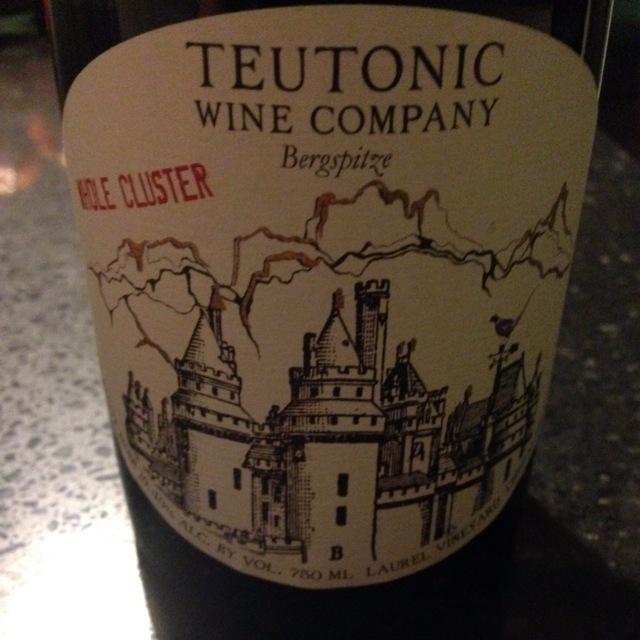 Bergspitze Whole Cluster White Label Laurel Vineyard Pinot Noir 2014