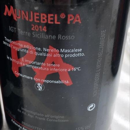Frank Cornelissen Munjebel PA (Porcaria) Etna Nerello Mascalese 2014