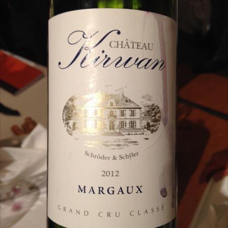 Château Kirwan Margaux Red Bordeaux Blend 2012
