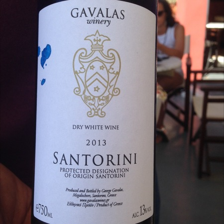 Gavalas Winery Santorini Dry White Blend 2016