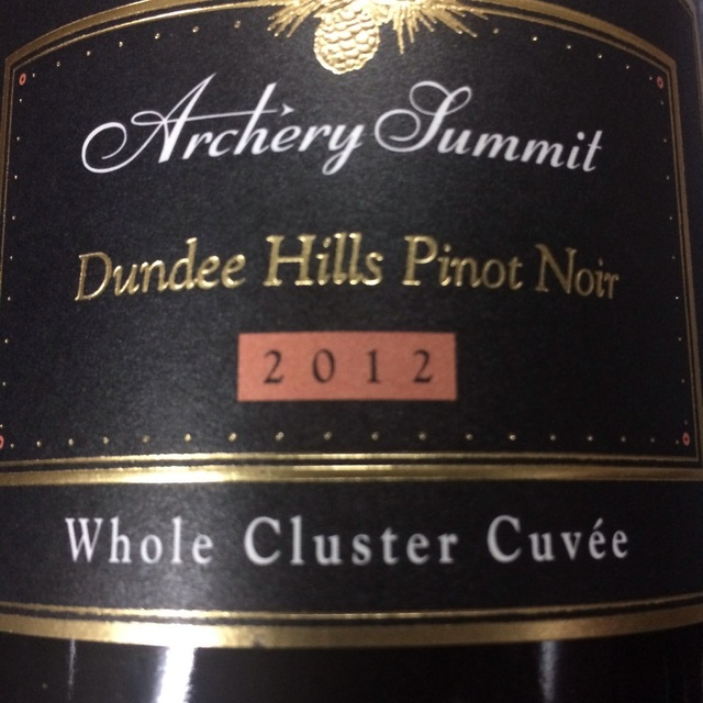 Dundee Hills Whole Cluster Cuvee Pinot Noir  2013