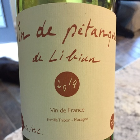 Mas de Libian Vin de Pétanque Vin de France Grenache Blend 2015