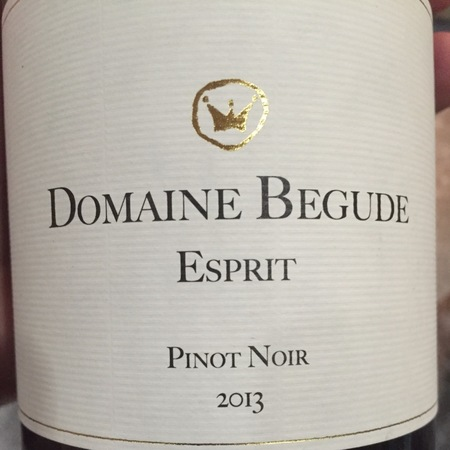 Domaine Bégude Pinot Noir 2013