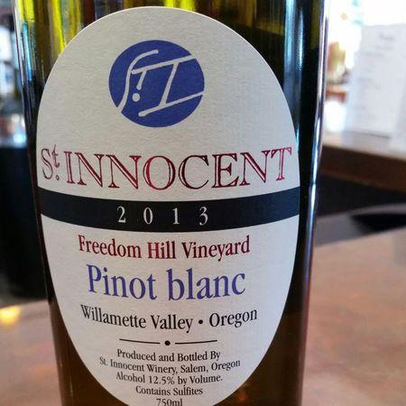 St Innocent Winery Freedom Hill Vineyard Pinot Blanc 2014
