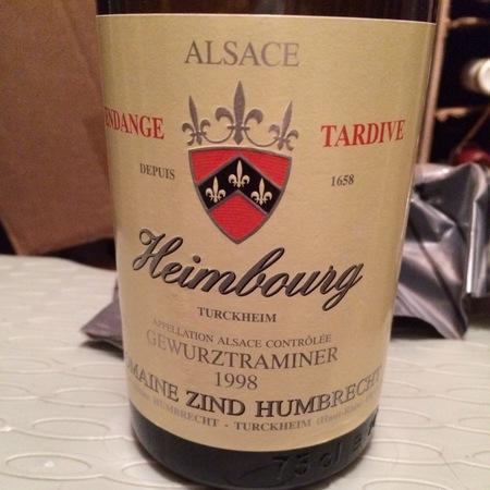Domaine Zind Humbrecht Heimbourg Alsace AOC Gewürztraminer 1998