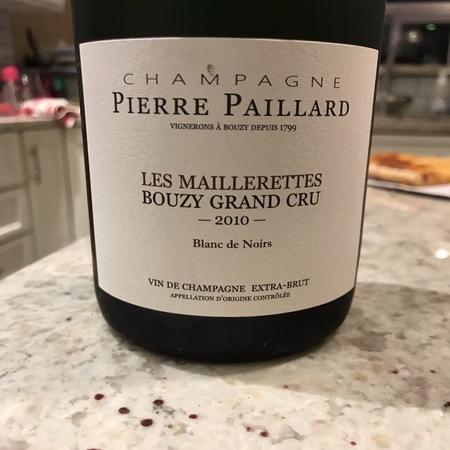 Pierre Paillard Les Maillerettes Acte 1 Grand Cru Blanc de Noirs Pinot Noir 2012