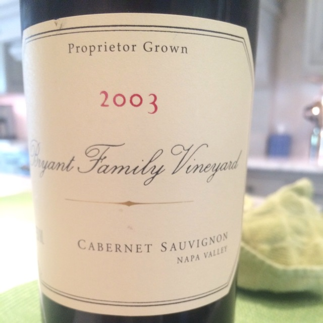 Proprietor Grown Napa Valley Cabernet Sauvignon 2003