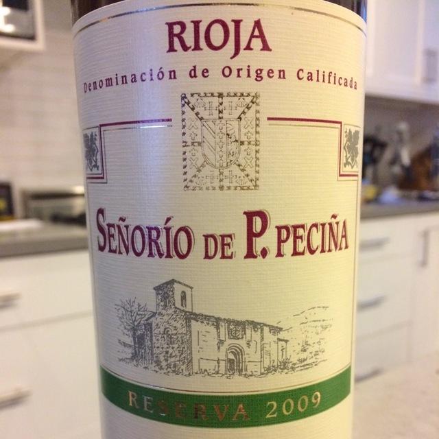 Señorío de P. Peciña Reserva Rioja Tempranillo 2009