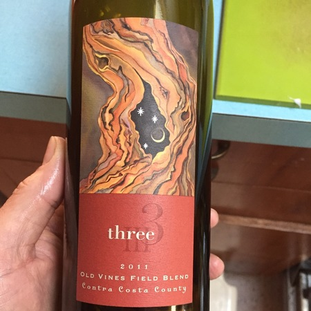 Three Wine Company Old Vines Field Blend Contra Costa County Red Blend 2014
