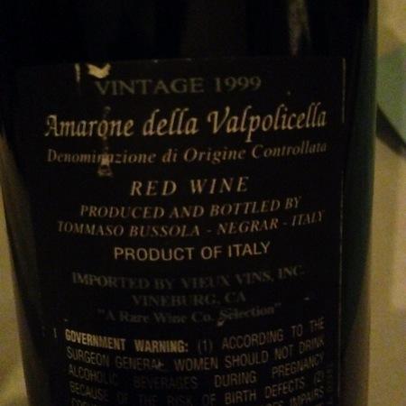 Tommaso Bussola Amarone della Valpolicella Corvina Blend 2001