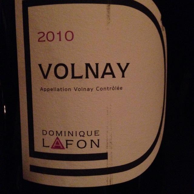 Volnay Pinot Noir 2010