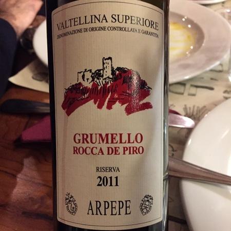 ARPEPE Riserva Rocca de Piro Grumello Valtellina Superiore Nebbiolo 2011