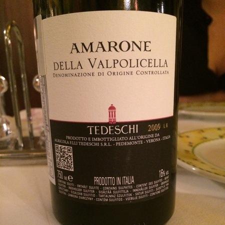 Tedeschi Amarone della Valpolicella Corvina Blend 2012