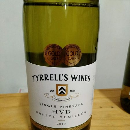 Tyrrell's Wines Single Vineyard HVD Hunter Sémillon 2010