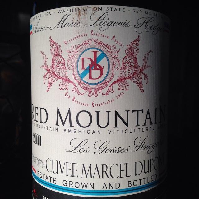 Les Gosses Cuvée Marcel Dupont DLD Red Mountain Syrah 2011