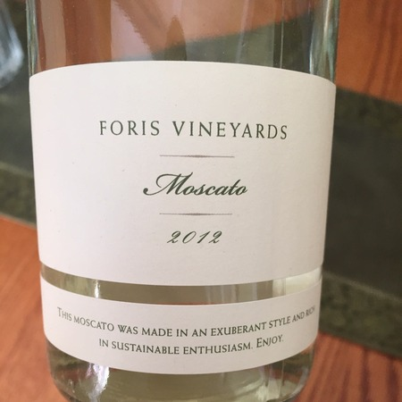 Foris Vineyards Oregon Moscato 2016