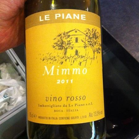 Le Piane Mimmo vino rosso 2011