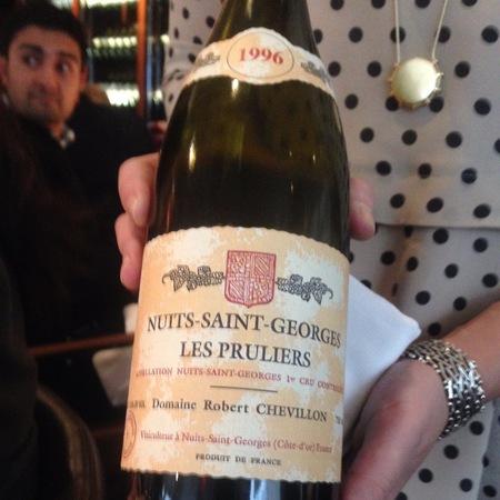 Domaine Robert Chevillon Les Pruliers Nuits-Saint-Georges 1er Cru Pinot Noir 1996