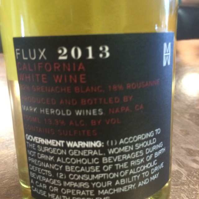 Flux Blanc Roussanne Grenache Blanc 2013